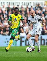 Swansea v Norwich, Liberty stadium Swansea, Saturday 29th March 2014<br /> <br /> Photographs by Amy Husband<br /> <br /> <br /> <br /> Swansea's Jonjo Shelvey on the ball.