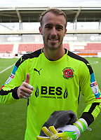 Goalkeeper Alex Cairns of Fleetwood Town gives a thumbs up after their 1-0 win in the Sky Bet League 1 match between Northampton Town and Fleetwood Town at Sixfields Stadium, Northampton, England on 12 August 2017. Photo by Alan  Stanford / PRiME Media Images.