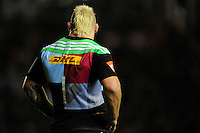 Joe Marler of Harlequins during the European Rugby Champions Cup  Round 1 match between Harlequins and Castres Olympique at the Twickenham Stoop on Friday 17th October 2014 (Photo by Rob Munro)