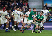 17th March 2018, Twickenham, London, England; NatWest Six Nations rugby, England versus Ireland; Conor Murray of Ireland is tackled and drops the ball