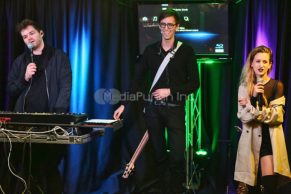 BALA CYNWYD, PA - APRIL 24: Marian Hill visits Q102 performance studio in Bala Cynwyd, Pa on April 24, 2017. Credit: Star Shooter / MediaPunch