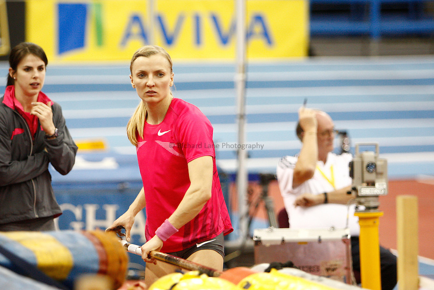 Photo: Richard Lane/Richard Lane Photography. Aviva Grand Prix. 20/02/2010. Poland's Anna Rogowska during the women's pole vault.