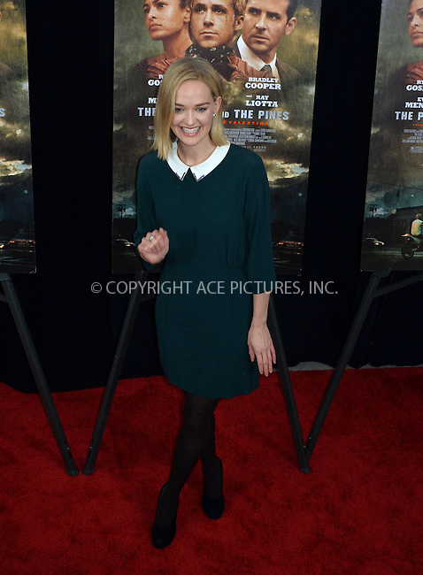WWW.ACEPIXS.COM....March 28 2013, New York City....Jess Weixler arriving at 'The Place Beyond The Pines' New York Premiere at the Landmark Sunshine Cinema on March 28, 2013 in New York City.......By Line: Curtis Means/ACE Pictures......ACE Pictures, Inc...tel: 646 769 0430..Email: info@acepixs.com..www.acepixs.com