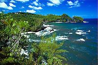 Onomea bay, Tropical botanical gardens, Hilo, Big Island