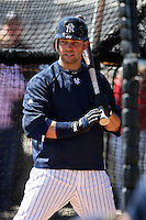 February 25, 2010:  Nick Swisher of the New York Yankees during practice at Legends Field in Tampa, FL.  Photo By Mike Janes/Four Seam Images