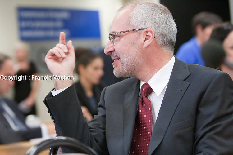 Giuseppe Battista at the Inquiry Commission into the appointment process for judges, more well know as the Commission Bastarche, September 16, 2010 in Quebec City.<br /> <br /> PHOTO :  Francis Vachon - Agence Quebec Presse