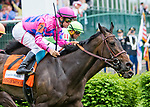 LOUISVILLE, KY - MAY 04: Toinette #7, ridden by Flaviet Prat, wins the Edgewood Stakes during an undercard race on Kentucky Oaks Day at Churchill Downs on May 4, 2018 in Louisville, Kentucky. (Photo by Sue Kawczynski/Eclipse Sportswire/Getty Images)