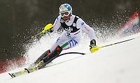 ZAGREB, CROACIA, 06 JANEIRO 2013 - COPA DO MUNDO DE ESQUI ALPINO - O competidor Stefano Gross durante a competicao de Slalom Gigante para homens durante a Copa do Mundo de Esqui Alpino em Zagreb na Croacia, neste domingo, 06/01/2013. (FOTO: PIXATHLON / BRAZIL PHOTO PRESS).