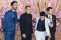 "Gwilym Lee, Ben Hardy, Rami Malek and Joe Mazzello<br /> arriving for the ""Bohemian Rhapsody"" World premiere at Wembley Arena, London<br /> <br /> ©Ash Knotek  D3455  23/10/2018"