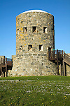 Eighteenth century loophole 'martello' Rousse tower, Sampson, Guernsey