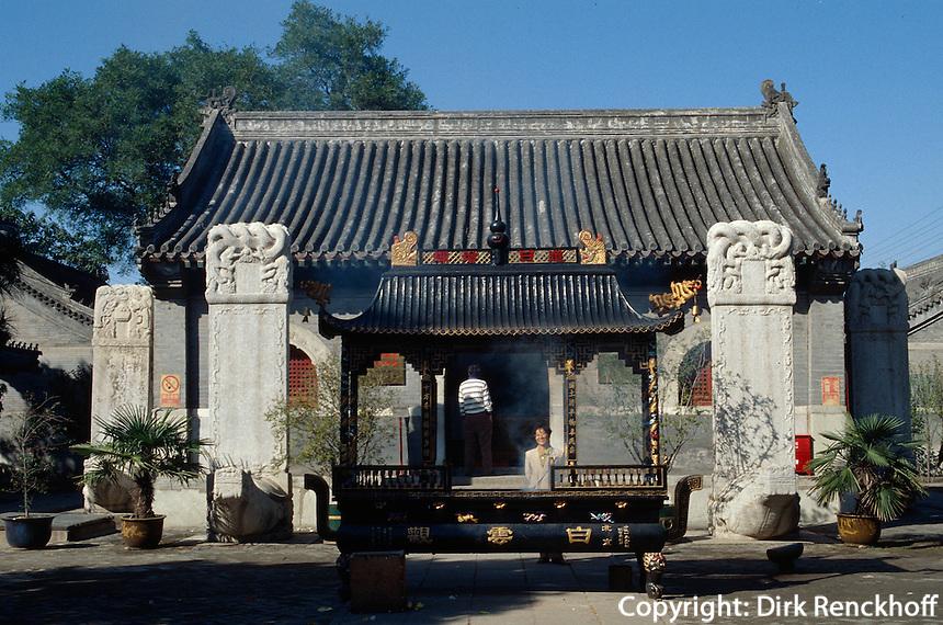 China, Peking, im daoistischen Tempel Baiyun Guan (Tempel zur weißen Wolke)