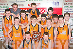 St Brigids team that won the under 14 boys final at the Castleisland basketball blitz on Friday l-r: Jonathon Hillard, Padraig Broderick, Middle row: John McMahon, Alex Fleming, Luke Fitzgerald, Jack Griffin. Back row: Niall Brosnan, Mike Cronin, Jason Cronin, Cieran Griffin, David Moriarty, Oisin Fleming, Jack Daly and Brian O'Shea......