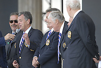Past European Captains on stage during the opening ceremony on Practice Day2 of the Ryder Cup at Valhalla Golf Club, Louisville, Kentucky, USA, 18th September 2008 (Photo by Eoin Clarke/GOLFFILE)