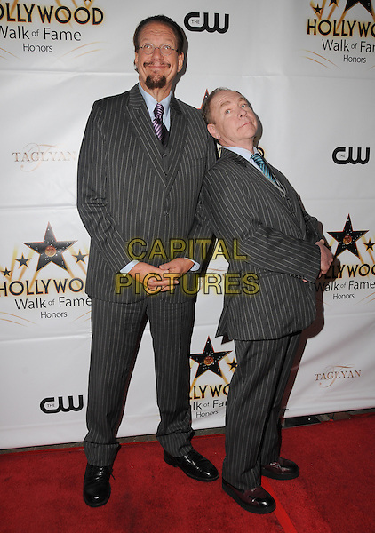 25 October 2016 - Hollywood, California. Penn Jillette, Raymond Teller. Hollywood Walk Of Fame Honors held at Taglyan Complex. <br /> CAP/ADM/BT<br /> &copy;BT/ADM/Capital Pictures