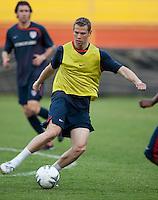 Jonathan Spector. Stadium Training prior to FIFA World Cup qualifiers USA vs El Salvador at Estadio Cuscatlán Stadium  on March 27, 2009.