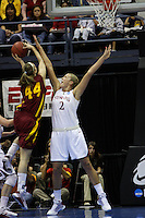 BERKELEY, CA - MARCH 30: Jayne Appel blocks a shot during Stanford's 74-53 win against the Iowa State Cyclones on March 30, 2009 at Haas Pavilion in Berkeley, California.