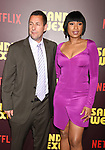 HOLLYWOOD, CA - APRIL 06:  Writer/producer/actor Adam Sandler (L) and actress/singer Jennifer Hudson attend the premiere of Netflix's 'Sandy Wexler' at the ArcLight Cinemas Cinerama Dome on April 6, 2017 in Hollywood, California.