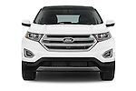 Car photography straight front view of a 2015 Ford Edge SEL 5 Door Suv Front View