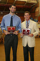 STANFORD, CA - June 12:  Taj Finger and Rob Grube accept the Jake Gimbel Award during the 2008 Athletic Board Award Luncheon at the Ford Center in Stanford, California.