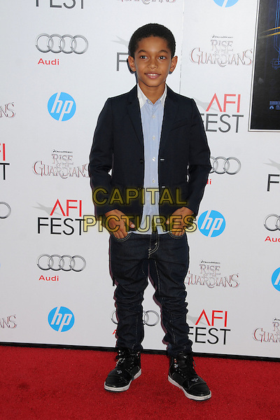 "Sayeed Shahidi.AFI FEST 2012 ""Rise of the Guardians"" Gala Screening held at Grauman's Chinese Theatre, Hollywood, California, USA..November 4th, 2012.full length black blue shirt jacket jeans denim.CAP/ADM/BP.©Byron Purvis/AdMedia/Capital Pictures."