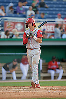 Williamsport Crosscutters Bryson Stott (15) during a NY-Penn League game against the Batavia Muckdogs on August 25, 2019 at Dwyer Stadium in Batavia, New York.  Williamsport defeated Batavia 10-3.  (Mike Janes/Four Seam Images)