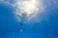 Children swimming, New Jersey