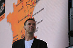 MC Jens Voigt on stage at the Team Presentation in Burgplatz Dusseldorf before the 104th edition of the Tour de France 2017, Dusseldorf, Germany. 29th June 2017.<br /> Picture: Eoin Clarke | Cyclefile<br /> <br /> <br /> All photos usage must carry mandatory copyright credit (&copy; Cyclefile | Eoin Clarke)