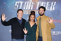 "Jason Isaacs, Sonequa Martin-Green and Shazad Latif<br /> at the ""Star Trek Discovery"" photocall, Millbank Tower,  London<br /> <br /> <br /> ©Ash Knotek  D3347  05/11/2017"