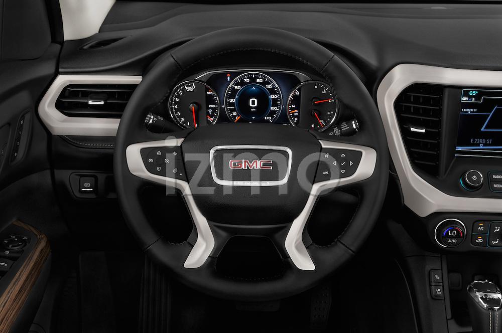 Car pictures of steering wheel view of a 2017 GMC Acadia Denali 5 Door SUV Steering Wheel