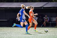 Allston, MA - Wednesday Aug. 31, 2016: Kassey Kallman, Kealia Ohai during a regular season National Women's Soccer League (NWSL) match between the Boston Breakers and the Houston Dash at Jordan Field.