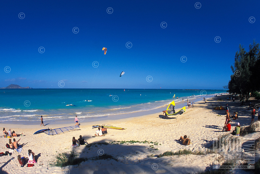 Kailua Beach Park is a favorite recreational area  for locals and visitors alike,on windward Oahu.