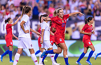 PHILADELPHIA, PA - AUGUST 29: Allie Long #20 of the United States celebrates during a game between Portugal and the USWNT at Lincoln Financial Field on August 29, 2019 in Philadelphia, PA.
