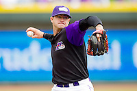Winston-Salem Dash starting pitcher Ryan Buch #14 in action against the Potomac Nationals at BB&T Ballpark on April 25, 2012 in Winston-Salem, North Carolina.  The Dash defeated the Nationals 14-0.  (Brian Westerholt/Four Seam Images)