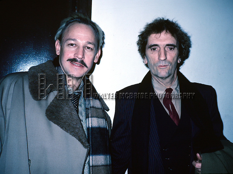 Frederic Forrest and Harry Dean Stanton attend the premiere of 'One From the Heart'  on February 15, 1982 at Radio City Music Hall in New York City.
