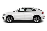 Car Driver side profile view of a 2019 Audi Q8 - 5 Door SUV Side View