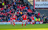 Barnsley disappointed after going 2 down during the Sky Bet Championship match between Barnsley and Leeds United at Oakwell, Barnsley, England on 25 November 2017. Photo by Stephen Buckley / PRiME Media Images.