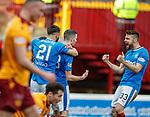 31.3.2018: Motherwell v Rangers: <br /> Jamie Murphy celebrates his goal for Rangers