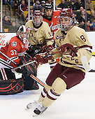 Edwin Shea (BC - 8) - The Boston College Eagles defeated the Northeastern University Huskies 7-1 in the opening round of the 2012 Beanpot on Monday, February 6, 2012, at TD Garden in Boston, Massachusetts.