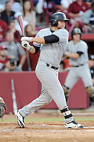 First baseman Kyle Martin (33) of the South Carolina Gamecocks bats in an NCAA Division I Baseball Regional Tournament game against the Maryland Terrapins on Saturday, May 31, 2014, at Carolina Stadium in Columbia, South Carolina. Maryland won, 4-3. (Tom Priddy/Four Seam Images)
