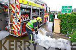 Emergency Services were hard at work controlling the flooding in Cahersiveen on Saturday.