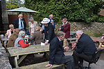 Priddy Friendly Society annual Club Walk Day. Somerset Uk 2019.
