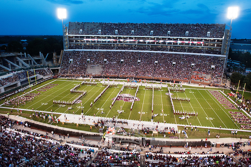 Famous Maroon Band perform State spellout. (photo by Beth Wynn / © Mississippi State University)