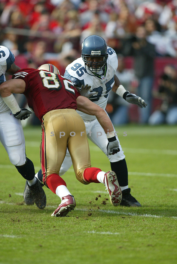 RUSSELL DAVIS, of the Seattle Seahawks ,during their game against  the  San Francisco 49ers on Novmeber 19, 2006 in San Francisco, CA...49ers win 20-14..Rob Holt / SportPics