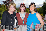 Sheila Brosnan, Castleisland, Rosemary Lawlor Causeway, and Carol Anne O'Donoghue Tralee pictured at a concert by Jerry Fish and friends a Fundraiser for the Niall Mellon South African Township at the Ballygarry House Hotel on Sunday.