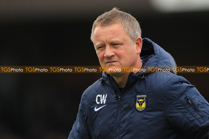 Oxford United Manager Chris Wilder - AFC Wimbledon vs Oxford United - Sky Bet League Two Football at the Cherry Red Records Stadium - 26/10/13 - MANDATORY CREDIT: Simon Roe/TGSPHOTO - Self billing applies where appropriate - 0845 094 6026 - contact@tgsphoto.co.uk - NO UNPAID USE