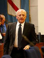 il presidente della giunta regionale della Campania Vincenzo De Luca partecipa alla   prima seduta del Consiglio Regionale della Campania , Napoli 09 Luglio 2005