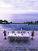 Dining with a view of the pool and Lombok Strait
