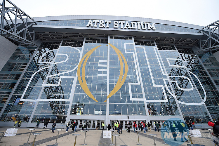12 JAN 2015:  The Ohio State University takes on the University of Oregon during the College Football Playoff National Championship held at AT&T Stadium in Arlington, TX.  Ohio State defeated Oregon 42-20 for the national title.  Jamie Schwaberow/NCAA Photos