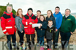 Presentation : Cousins from the Liselton Area who went on the Wren to raise money for the Ballybunion Sea & Cliff Rescue presenting acheque for €385.00 to TJ McCarronn at the Rescue centre on Saturday last. L-R : Frank O'Connor, Caoimhe Barry, TJ McCarronn, Eoin & Aoife Sheehan, Oran BarryShauna Barry, Joshua Kelly & Liam Mulvihill.