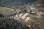 Calaveras County aerials-former site and cement storage silos of the Calaveras Cement Company, mostly demolished